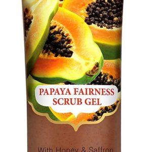 Natural Papaya Fairness Facial Scrub Gel with Honey & Saffron - Lightening & Bri