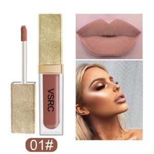 Matte Lipstick,ROMANTIC BEAR Waterproof Makeup Lip Gloss Natural Velvet Liquid